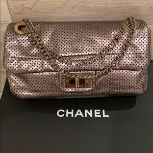 Authentic Chanel Handbag in Pewter
